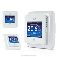 Saswell Digital Heater Thermostat For Floor Heating Applications Flexible Rigid Easy To Install