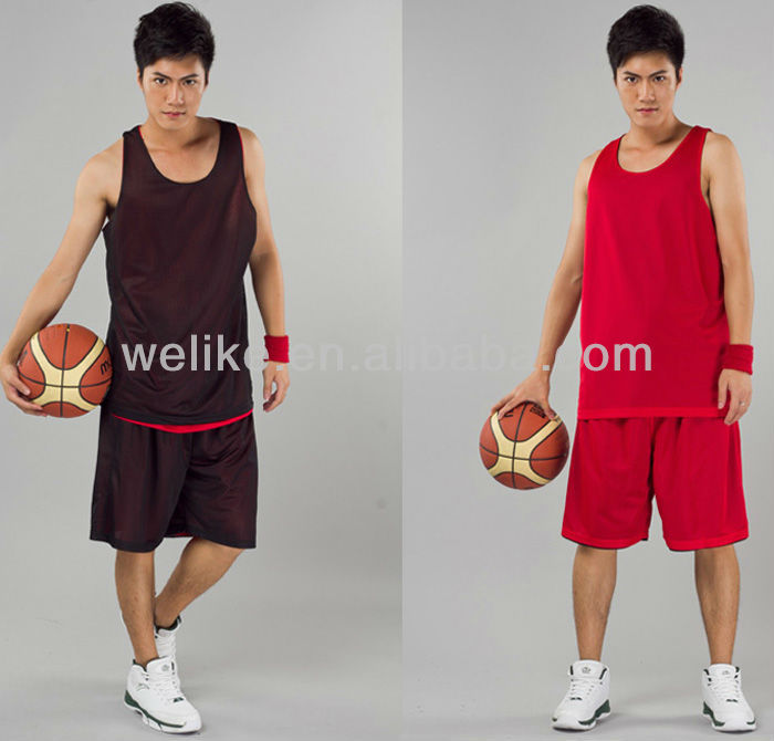 8108526bb4f Basketball uniform white and blue mens blank basketball jersey wholesale  reversible basketball jerseys