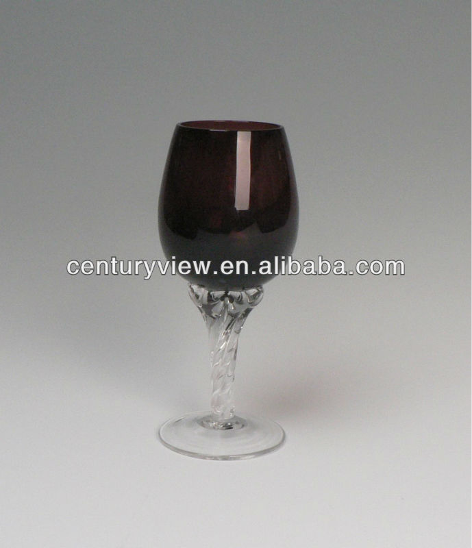 color body and clear stem brass goblet india