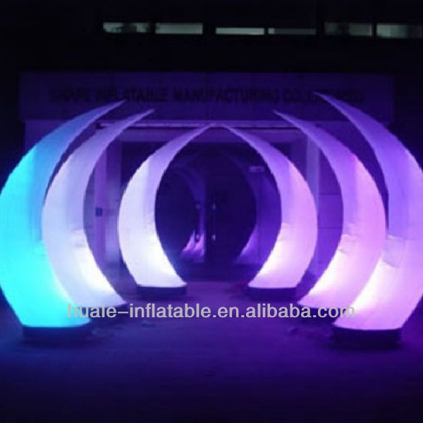Good sale inflatable light tusk/inflatable LED cone,Inflatable decoration star