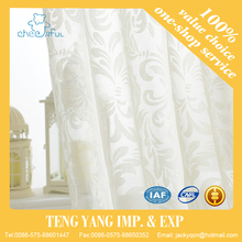 Modern leaves print curtains and drapery living room curtains draps customized printing tulle curtain fabric