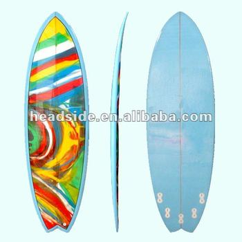 Hot sale retro fish short surfboard pigment surfboard for Fish surfboard for sale