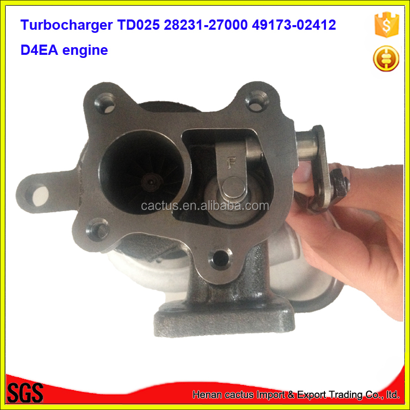 TURBOCHARGER TD025 28231-27000 49173-02412 D4EA ENGINE