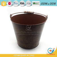 2018 outdoor home galvanized balcony cheap iron flower pot Hot selling Metal Garden Decor Bucket Flower Holder
