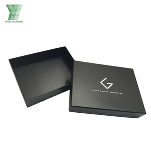 Custom Black Luxury Rigid Apparel Package Paper Box Suit Box