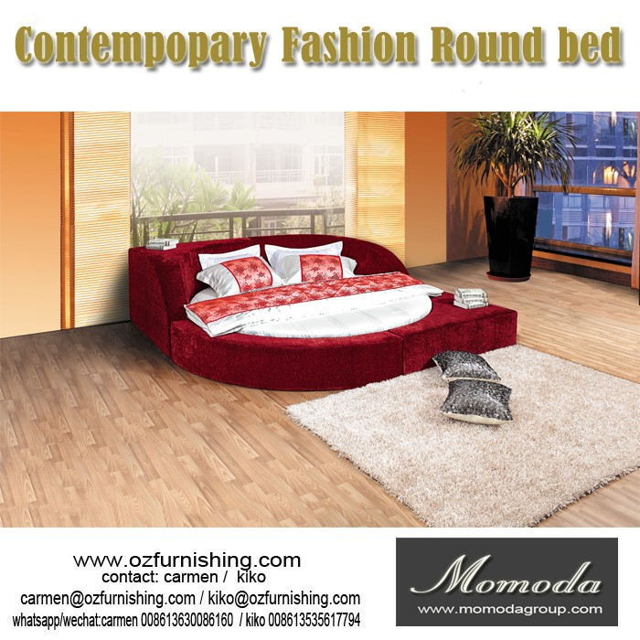 C041 sex double bed design furniture latest italian for Round double bed design