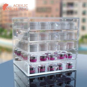 125 Bottle Large Acrylic Nail Polish Drawer Organizer Storage Box