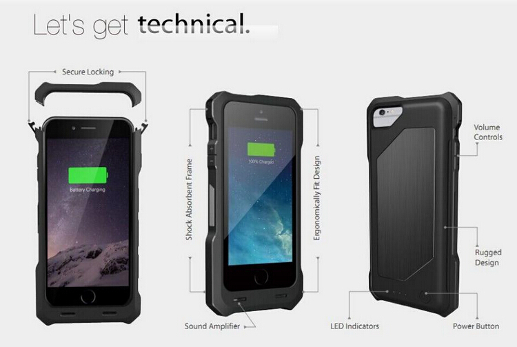 battery case mfi certified powercase for iPhone 6 and 6Plus 3500mAh