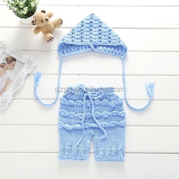 Mano Crochet Recién Nacido Ropa Fijada Para La Foto - Buy Sistema De ...