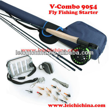 Fly fishing rod and reel starter combo buy fly fishing for Fly fishing starter kit