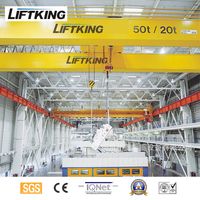 LIFTKING Hot Sale Electric Overhead Double Girder Bridge Crane With Electric Chain Hoist