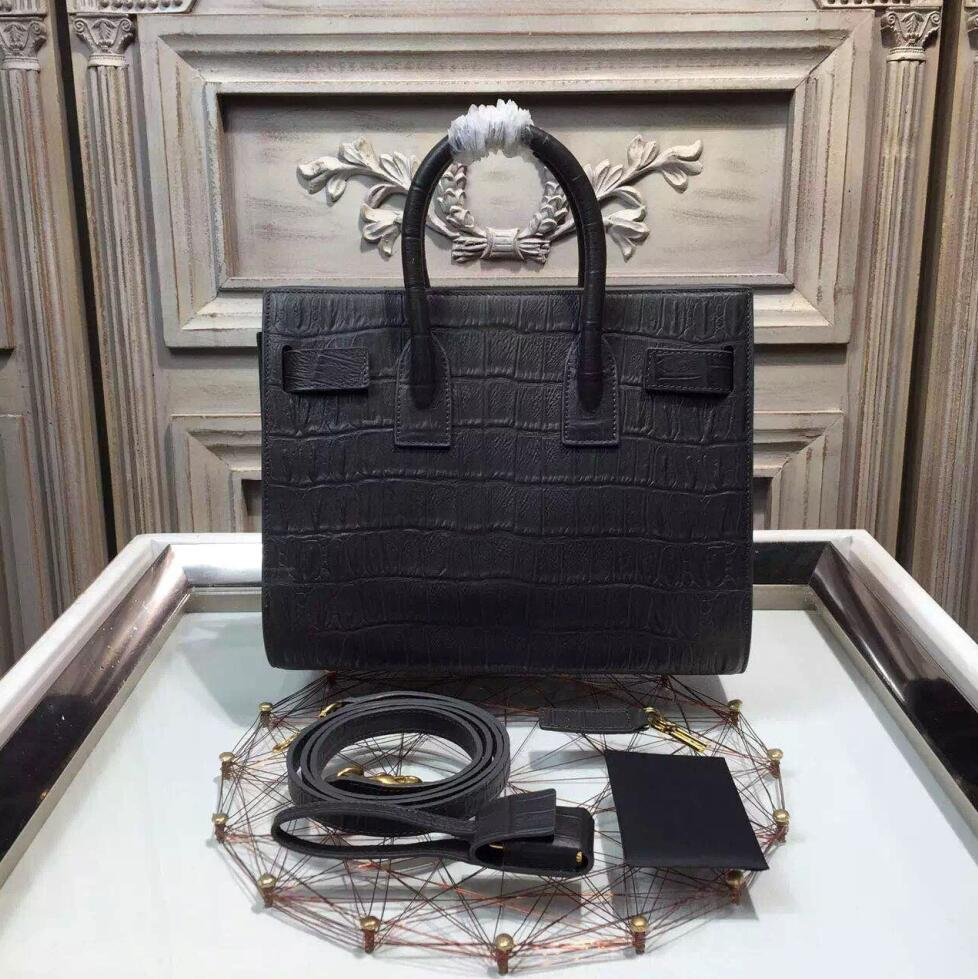 3d4171691147 classic small sac de jour bag in black crocodile embossed leather