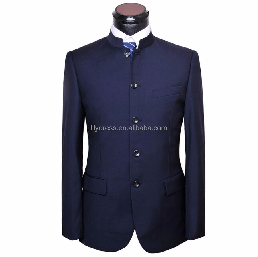 Men Chinese Tunic Suit High Neck jacket New Arrival fashion Formal High Quality Blazer Suits For Men suit jacket