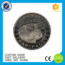 round custom blank antique silver coin