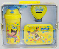 Tin box packing money box water bottle and lunch box set kids gift set