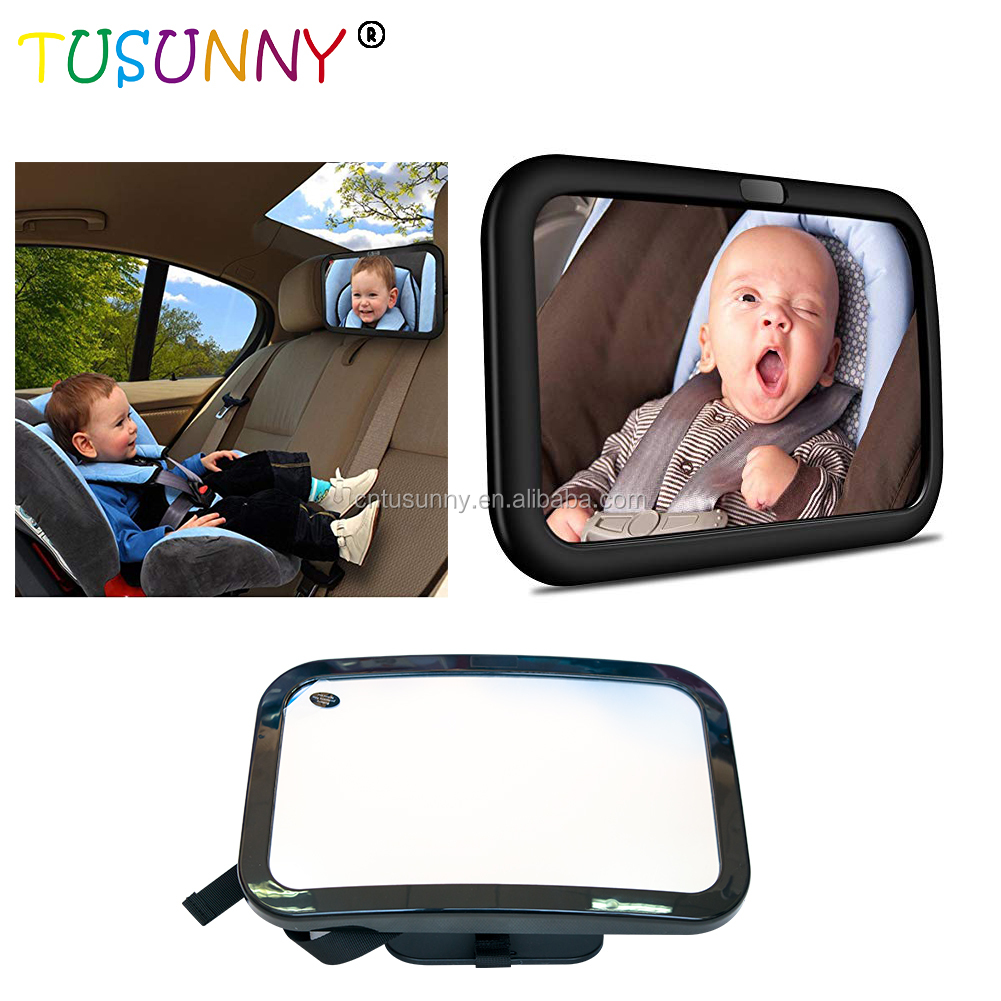 Safety Wide Clear Rear View Baby Car Back Seat Mirror For Car Baby Car Mirror For Back Seat