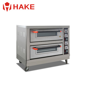 Wholesaler commercial bread making machines, 2-layer 2-tray Gas Bead Pizza Baking Gas Oven
