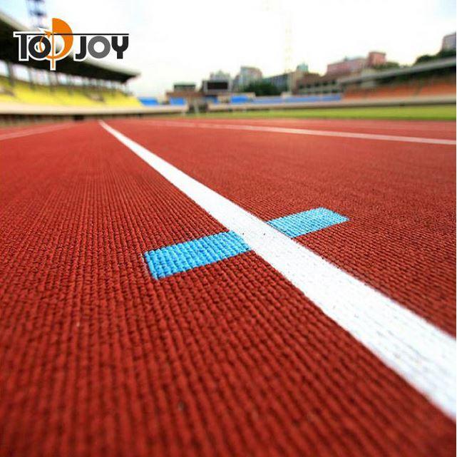 hete verkoop synthetische geprefabriceerde rubber vloeren voor atletiekbaan