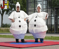 Custom Inflatable Snowman Sumo Wrestler Costume For Sale