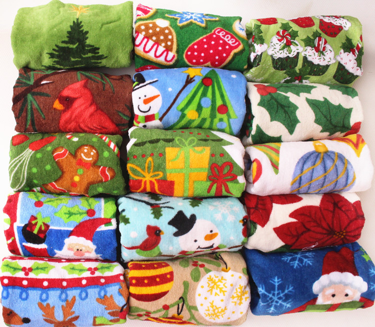 Luxury Christmas Kitchen Towels: High Quality Christmas Printed Decorative Cotton Kitchen