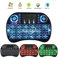 Smart TV use 2.4Ghz mini wireless gaming mouse and keyboard with touchpad