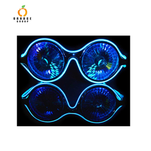 OrangeGroup diffraction glasses goggles wholesale EL wire difffaction goggle fashion light up sunglass for party