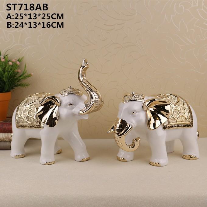 2017 home decoration ornament resin elephant sculpture for for Elephant decorations home