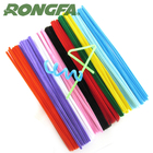 6mm x 12inch colorful craft wire pipe cleaners