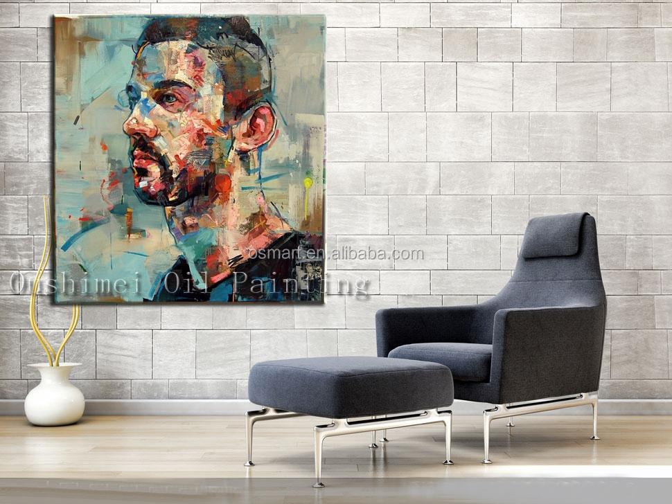 oleos abstractos modernos figuras decoracion pintura al leo hombre cara canvas pintura al leo cuadros decorativos