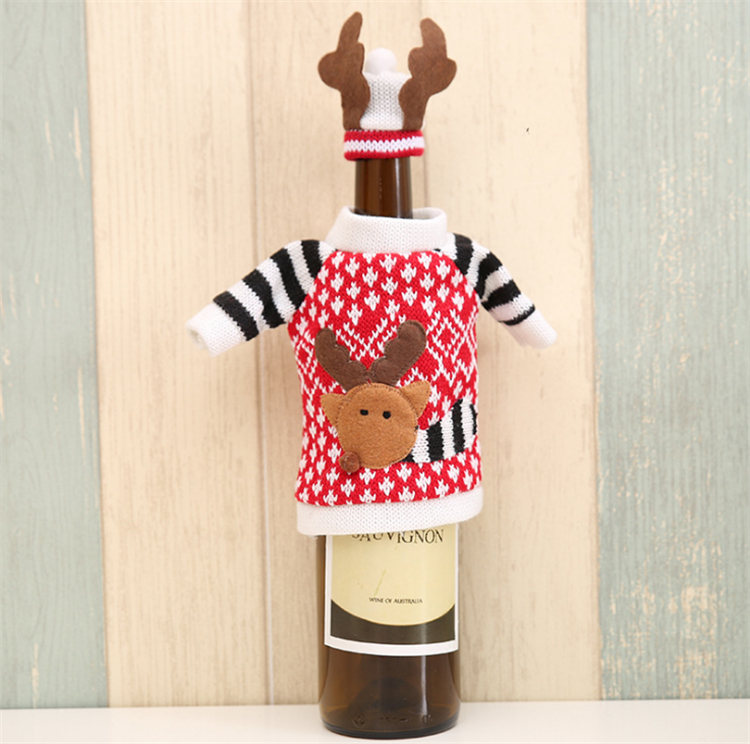 Promotional gifts wool christmas wine bottle decoration