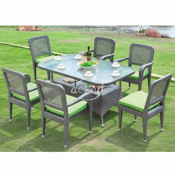 Backyard Patio Furniture Rattan Wicker Outdoor Furniture Dining