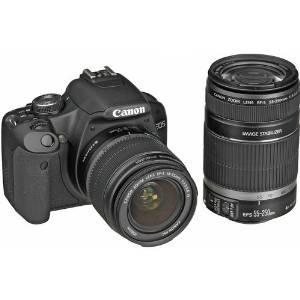 Canon EOS Rebel T1i (500D) Digital SLR Kit w/EF-S 18-55mm f/3.5-5.6 IS Lens & Canon EF-S 55-250mm f/4-5.6 IS Autofocus Lens