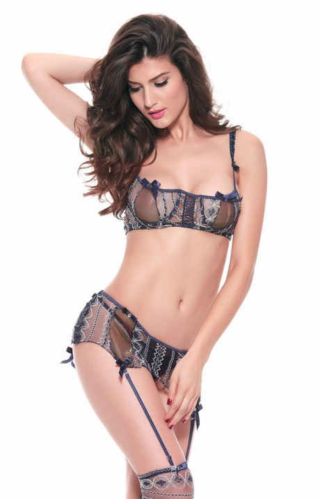 49f75163396 See Through Lace Stripes Bra And Mini Skirt Lingerie Dj4039 - Buy ...