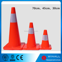Foldable road safety equipment 750 mm reflective traffic cone