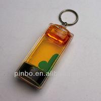 liquid filled keychain