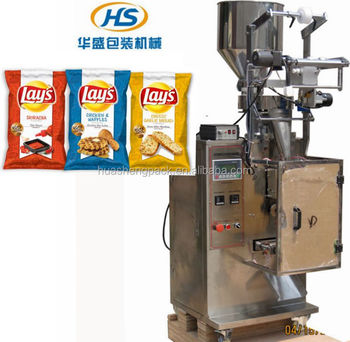 Automatic food packing machine snack Crisp pieces/Lays chips packing machine