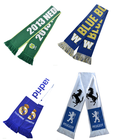 World cup polyester knitted printing woven football fan scarf albanian scarf