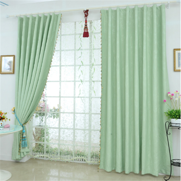China supplier luxury European style home textile embossed curtain