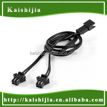 2 Way Female To Male 2 Pin Connector El Wire Splitter Cable For El ...