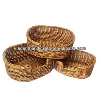 Country natural willow weaving dog bed wicker woven cat bed