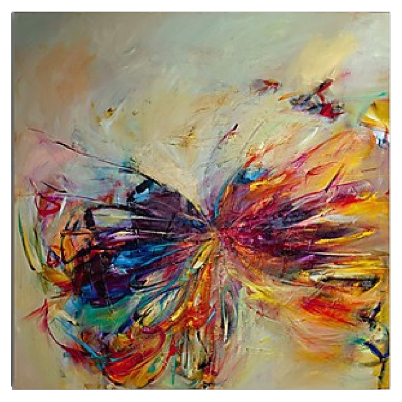 100% Hand Painted Butterfly Oil Painting Abstract Modern ...