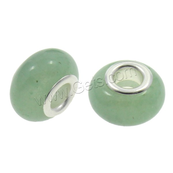 Green Aventurine European Large Hole Gemstone Beads