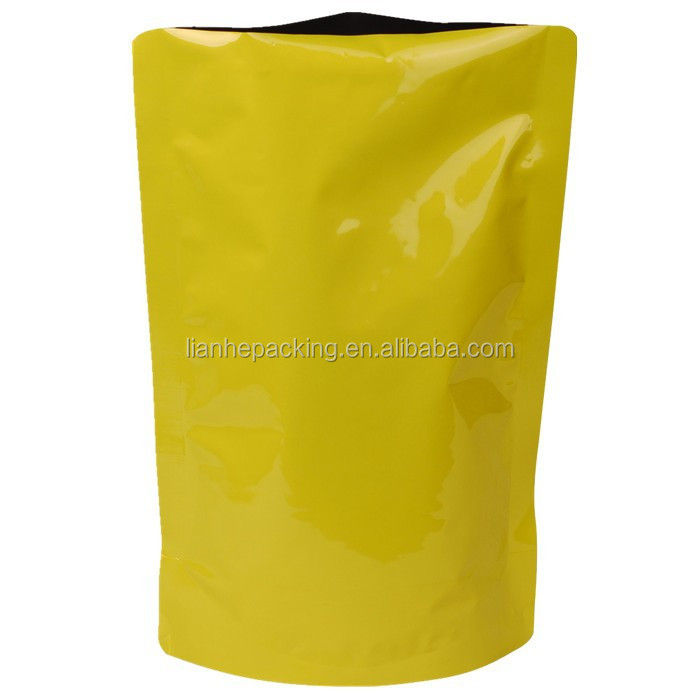 Plastic Bottom zip lock aluminum stand up packaging pouch