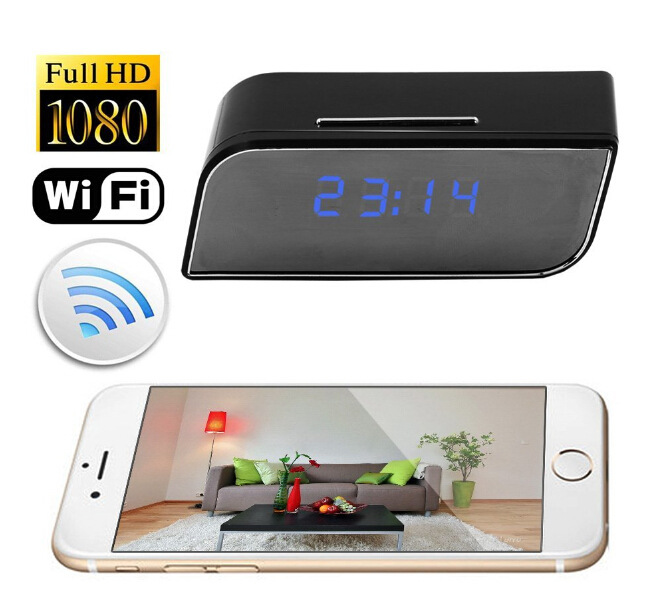 Very small 1080p HD wifi mini hidden clock ip camera with wifi like a clock