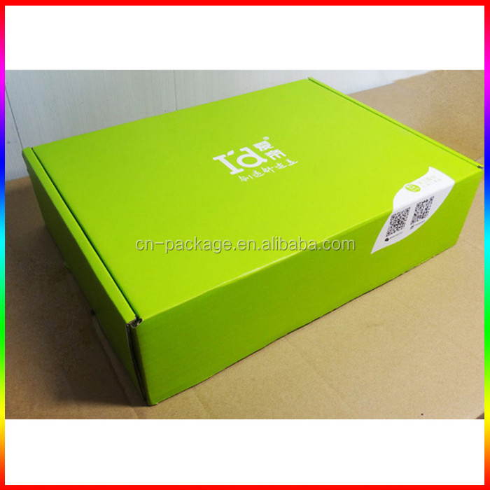 high quality green fluting/corrugated paper box packaging