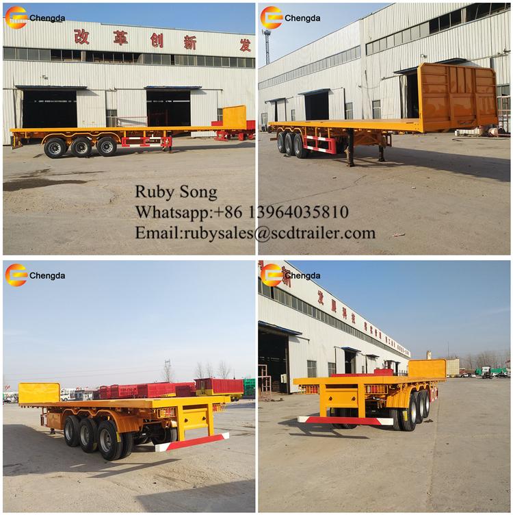3 eje remolque contenedor camión 40Ft camión remolque capacidad de carga