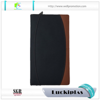 Wholesale handmade men leather clutch wallet bag with card holder