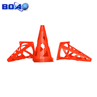Plastic Soccer Football Collapsible Safety Cones Training Accessory