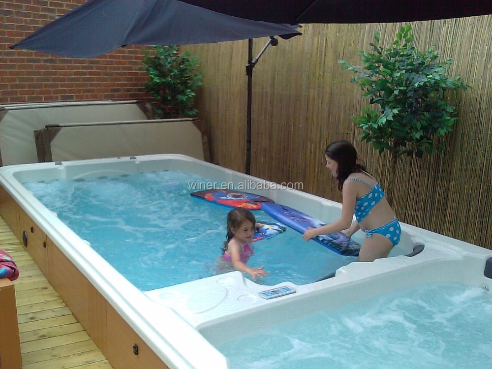 hot sale ce approved indoor outdoor acrylic swimspa salt water swim spa - Saltwater Hot Tub