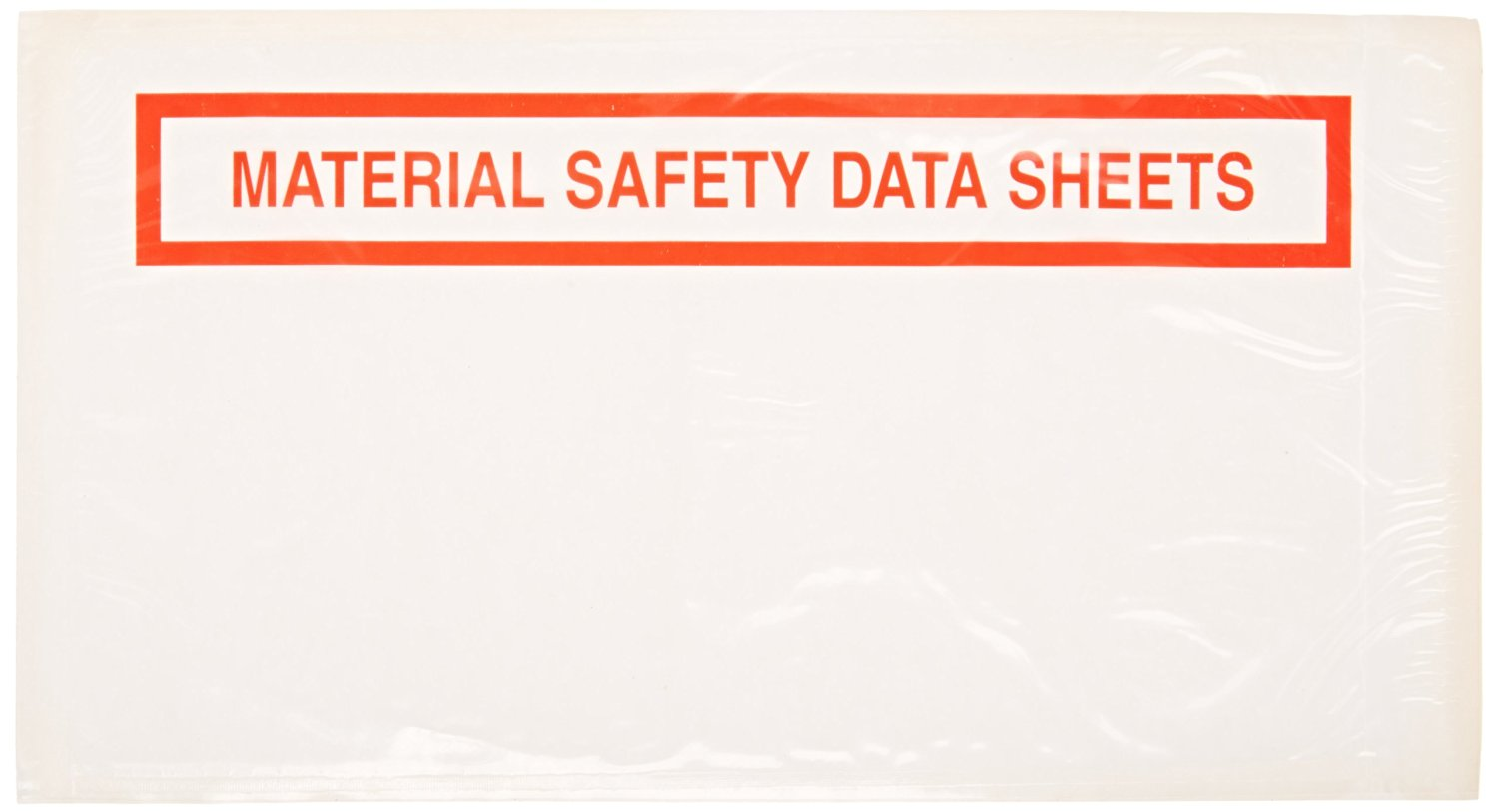 """Aviditi PL464 Poly Envelope, Legend MATERIAL SAFETY DATA SHEETS, 5-1/2"""" Length x 10"""" Width, 2 mil Thick, Red on White (Case of 1000)"""